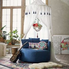 Turn your reading nook into a serene oasis with this piece of decadent decor.