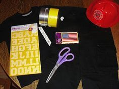 DIY fireman outfit -- make for dramatic play More