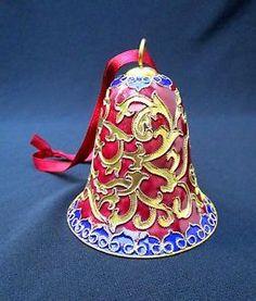 Cloisonne Bell Ornament   eBay