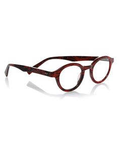 TV Party Round Marbled Readers, Red