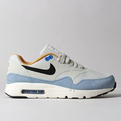 new concept d7d5a 6e3c1 Nike Air Max 1 Ultra Essential Light Bone Bluecap Air Max 1s, Nike Air