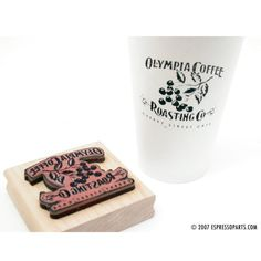 "Custom Rubber Stamp (your art or logo) - 2"" x 3"" or 3"" x 3"" (Ships in 5-7 days) - Espresso Parts"