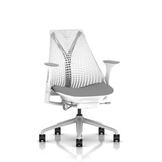 The Hunger Games (2012): The futuristic circular control room of Seneca Crane (Wes Bentley) is outfitted with these silver/white Herman Miller 'Sayl' chairs. Click on the picture for more INSIDER Details.