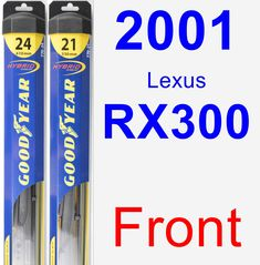 Front Wiper Blade Pack for 2001 Lexus RX300 - Hybrid