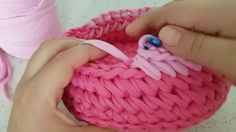 Crochet basket, video tutorial