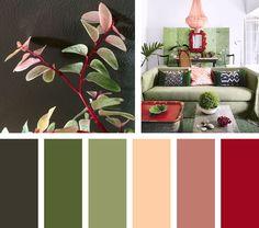 Una combinación complementaria de colores seductoresgenerada porel contraste de tonalidadesrojas y verdes. Espacio Vía: iconscorner