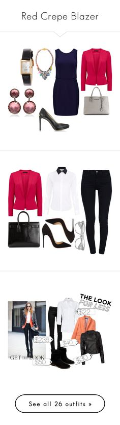 Red Crepe Blazer by lkt123 on Polyvore featuring polyvore women's fashion clothing outerwear jackets blazers coats tops bright red fitted blazers short-sleeve blazers red blazer jacket blazer jacket collar jacket moda style Forever New MICHAEL Michael Kors Shourouk Michael Kors Kate Spade Larkspur & Hawk fashion STELLA McCARTNEY Paul Smith Yves Saint Laurent Christian Louboutin J Brand MANGO Zara Ashley River Island Cédric Charlier VIPARO J.Crew Hermès Juicy Couture Equipment Rupert…