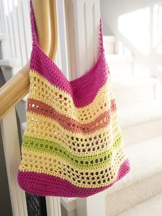 Crochet Beach Tote Bag