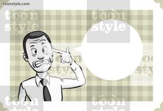 Greeting card with businessman pointing finger on his head – personalize your card with a custom text