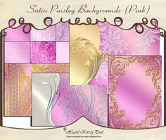 The preview here does not do these stunning backgrounds justice.  Soft satin in a variety of designs.  In each pack there are, plain, embossed & gilded vellums.  There are printed, embossed & gilded backgrounds, a heavily gilded, bordered background, 2 layered backgrounds (with stunning edgings - one of them has a lace paisley overlay - which can't be seen very well here) and a gilded card front.  The set had been designed to mix and match for for matting & layering making them extremely…