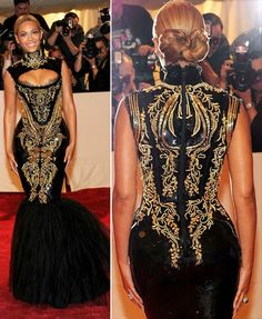 Back in 2011 she graced the red carpet at the MET Gala in a beautifully embroidered black and gold dress. Description from fashionsstatement.blogspot.com. I searched for this on bing.com/images