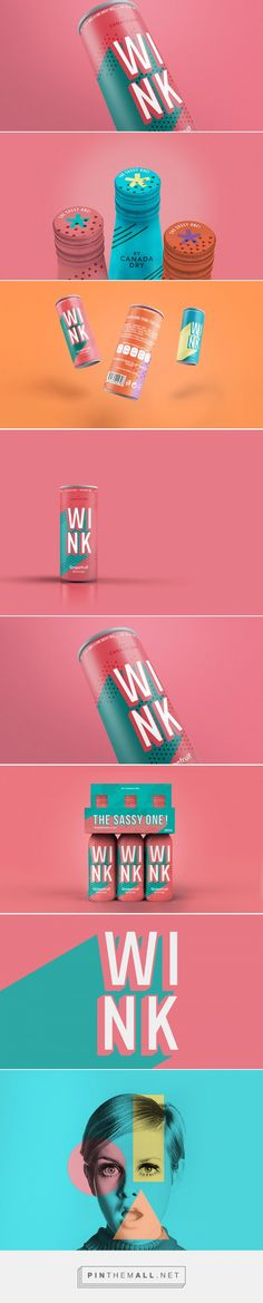 Wink - Branding and packaging for Wink's soda, a beverage drink original from the 60's. / by  Laura de Miguel and Alejandra Martinez.