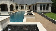 A beautiful pool installation by Patterned Concrete by Rey. Located in Texas. www.patternedconcrete.com Pool Installation, Beautiful Pools, Pool Decks, East Coast, Concrete, Texas, Backyard, City, Outdoor Decor