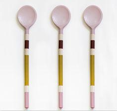 Ceramic spoons by Kristina Klarin