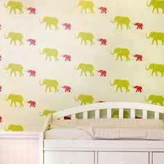 Tusk Wallpaper in Flamingo Pink from the Tempaper