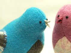 Turquoise Bird Felted Wool Home Decor Nursery by ForMyDarling, $22.00