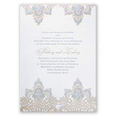 Antique Lace Letterpress Invitation #weddings #davidsbridal #lace