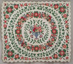 19th century floral appliqué quilt - The Metropolitan Museum Mobile