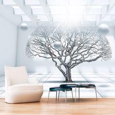 Papier peint intissé 50x35 cm - 3 couleurs au choix - Top vente - Papier peint - Tableaux muraux déco XXL - abstraction arbre a-C-0013-a-d: Amazon.fr: Cuisine & Maison