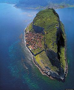 Greece Travel Inspiration - Meet Monemvasia, A Hidden Fortress Town Perched On An Island In Greece