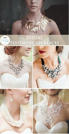 Bridal statement necklaces – KnotsVilla