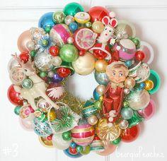 Vintage Christmas Ornament Wreath   Vintage Christmas Ornaments Wreath   Flickr - Photo Sharing!