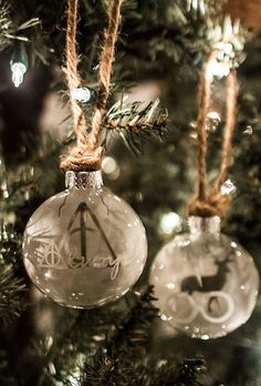HP Christmas Ornament- Deathly Hallows from hpgeneration.com.  Love these!