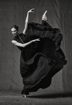 "Art project ""Svetlana Zakharova. Freeze frame"", by Russian photographer Vladimir Fridkes featuring Svetlana Zakharova."
