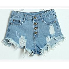 New Summer Sexy Women's Irregular High Waisted Shorts Slim Fit Denim Jeans Shorts Worn Loose Burr Hole Jeans Femme High Quality Ripped Shorts, Ripped Denim, Jean Shorts, Blue Shorts, Distressed Denim, Girl Shorts, Daisy Shorts, Skinny Jeans, Hot Pants