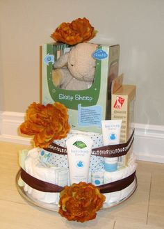 Baby Boy Diaper Cake Baby Gift Its a Boy by AngelsBabyBaskets