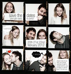 Funny cute save the date