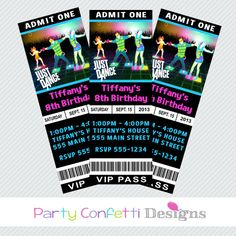 just dance invites  just dance party invite we had a projector, invitation samples