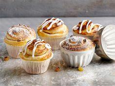 Briossit Tasty Pastry, Scones, Sweet Recipes, Muffin, Rolls, Baking, Breakfast, Food, Buns