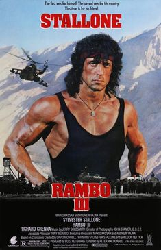 An original, rolled, one-sheet movie poster x from 1988 for Rambo III with Sylvester Stallone and Richard Crenna. Rambo 3, John Rambo, Series Movies, Film Movie, Sylvester Stallone Rambo, Silvester Stallone, Best Action Movies, Best Movie Posters, Great Films