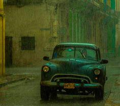 Rain in Centro Habana, Cuba