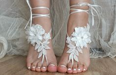 Hey, I found this really awesome Etsy listing at https://www.etsy.com/listing/234978537/ivory-lace-wedding-barefoot-sandals