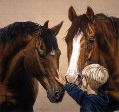 "Warhol, Kelly & Jesse (37""x35"")"