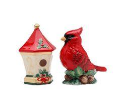 Cardenal  pajarera  arcilla polimérica  Navidad  adorno de