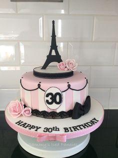Nice Paris Cake Decorations pertaining to Paris Themed Birthday Cake Birthday Cake 30, Paris Birthday Cakes, Paris Themed Cakes, Paris Themed Birthday Party, Paris Cakes, Birthday Cakes For Teens, 10th Birthday Parties, Paris Party, Sweet 16 Birthday