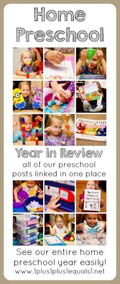 Home #Preschool Year in Review from @1plus1plus1 ~ ALL preschool blog posts linked in order, easily see the entire year!