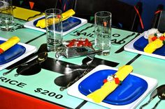 We Heart Parties: Monopoly Theme Party Game Themes, Kids Party Themes, Party Games, Party Ideas, Theme Parties, Fun Games, Monopoly Themed Parties, Monopoly Party, Crafting