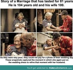 Cute couple... This was kinda like my grandparents, all they had for each other was pure love and admiration for each other, I want a love like theirs that will last forever.