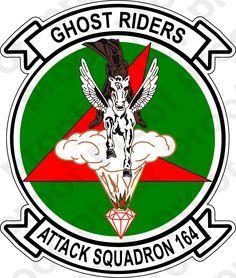 M.C. Graphic Decals - STICKER USN VA 164 GHOST RIDERS, $3.00 (http://www.mcgraphicdecals.com/sticker-usn-va-164-ghost-riders/)