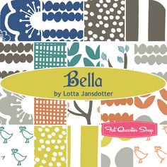 Bella by Lotta Jansdotter just arrived in the shop! We are so excited about this collection! Get it while it lasts! #fabric #FQS