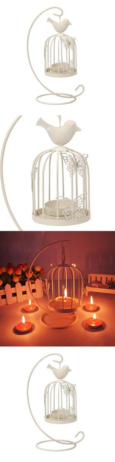 Candle Holder,Muxika New Vintage Candle Holder Romantic Candlestick Home Party Wedding Home Decor,Best Anniversary, Birthday Or Valentine's Day Gift (White)