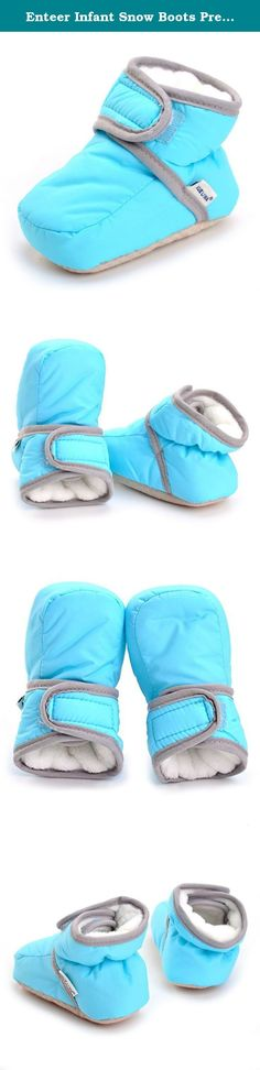 cd0d266025b1 Enteer Infant Snow Boots Premium Soft Sole Anti-Slip Warm Winter Prewalker  Toddler Boots (