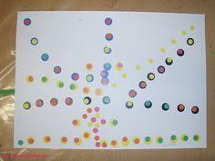 Yayoi's Kusama polka dot inspiration...with polka dot stickers