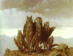 Compañeros del Miedo, óleo sobre lienzo de Rene Magritte (1898-1967, Belgium)