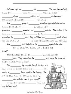 HALLOWEEN PRINTABLES~  Lots of worksheets, coloring pages, and other holiday resources.