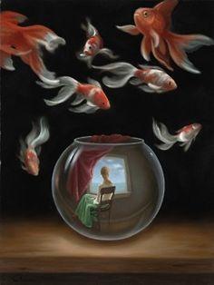 Samy Charnine sureal paintings